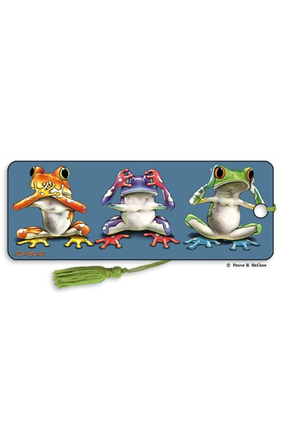 No Evil frogs Bookmark