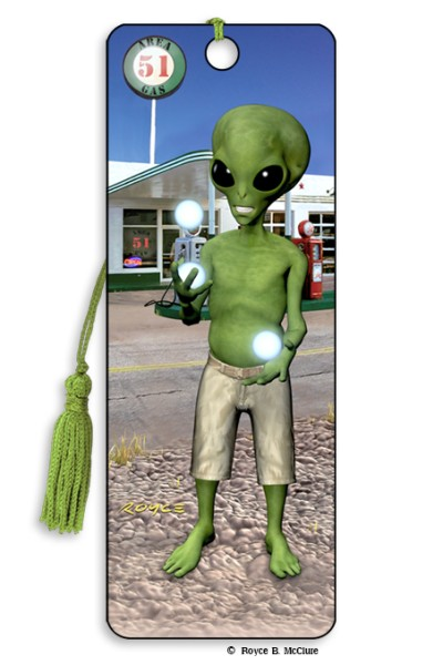 Juggling Alien Bookmark