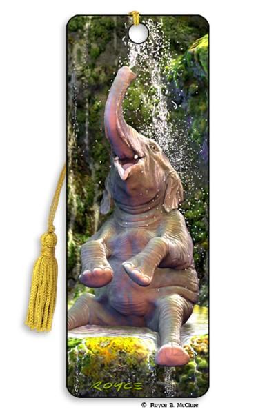 Elephant Bath Bookmark