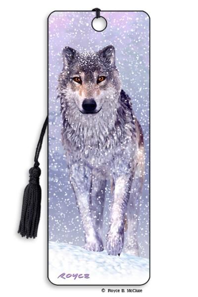 Snow Wolf Bookmark
