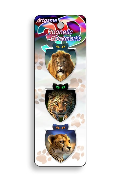 African Cats Magnetic Bookmark