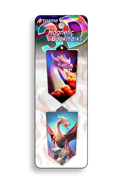 Dragons Magnetic Bookmark