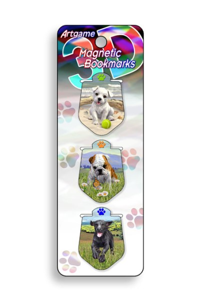 Puppies Magnetic Bookmark