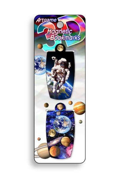 Space Walk Magnetic Bookmark