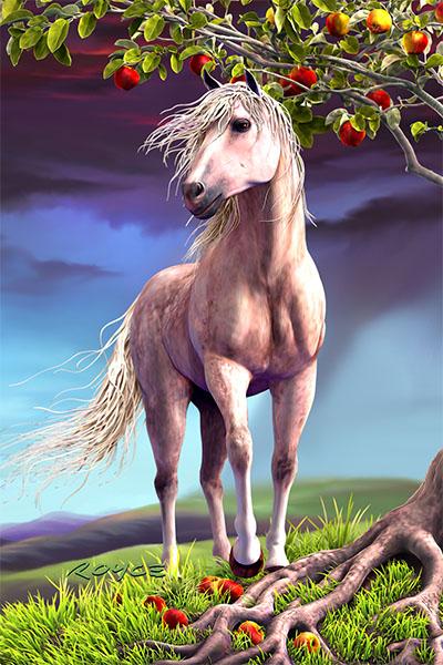 Horse Heaven Postcard