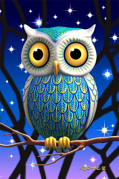 Owls Flip Postcard